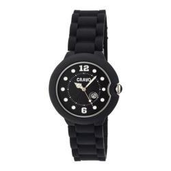 Men's Crayo Muse Quartz Watch Black Silicone/Black