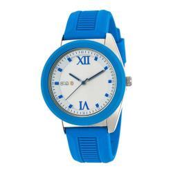 Men's Crayo Praise Quartz Watch Blue Silicone/Silver