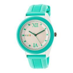 Men's Crayo Praise Quartz Watch Turquoise Silicone/Silver