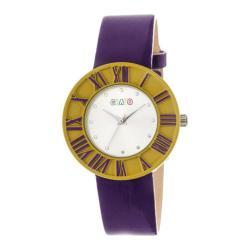 Men's Crayo Prestige Quartz Watch Purple Polyurethane/Silver