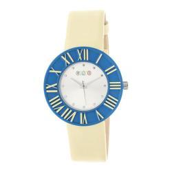 Men's Crayo Prestige Quartz Watch Yellow Polyurethane/Silver