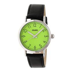 Men's Crayo Pride Quartz Watch Black Leather/Lime