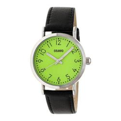 Men's Crayo Pride Quartz Watch Black Leather/Lime
