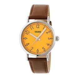 Men's Crayo Pride Quartz Watch Camel Leather/Orange