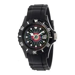 Men's Crayo Shrine Quartz Watch Black Silicone/Multicolor