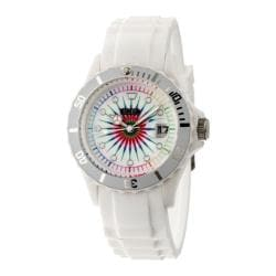 Men's Crayo Shrine Quartz Watch White Silicone/Multicolor