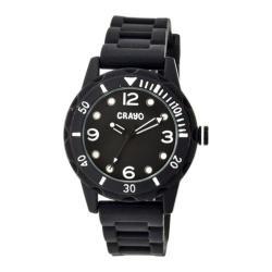 Men's Crayo Splash Quartz Watch Black Silicone/Black