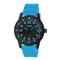 Men's Crayo Splash Quartz Watch Blue Silicone/Black