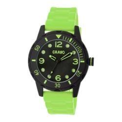 Men's Crayo Splash Quartz Watch Lime Silicone/Black