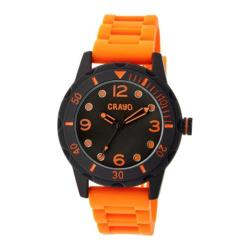 Men's Crayo Splash Quartz Watch Orange Silicone/Black
