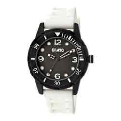 Men's Crayo Splash Quartz Watch White Silicone/Black