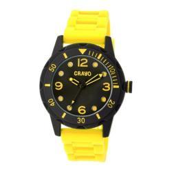 Men's Crayo Splash Quartz Watch Yellow Silicone/Black