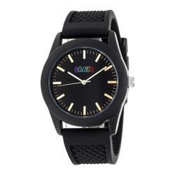 Men's Crayo Storm Quartz Watch Black Silicone/Black