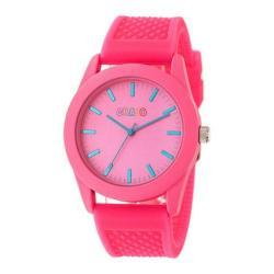 Men's Crayo Storm Quartz Watch Hot Pink Silicone/Hot Pink