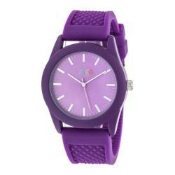 Men's Crayo Storm Quartz Watch Purple Silicone/Purple