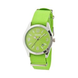 Men's Crayo Sunrise Quartz Watch Lime Nylon/Lime