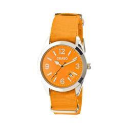 Men's Crayo Sunrise Quartz Watch Orange Nylon/Orange