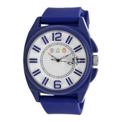 Men's Crayo Sunset Quartz Watch Blue Silicone/White
