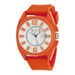 Men's Crayo Sunset Quartz Watch Orange Silicone/White