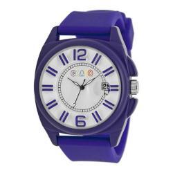 Men's Crayo Sunset Quartz Watch Purple Silicone/White