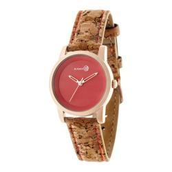 Men's Earth Watches Canopies Quartz Watch Khaki/Tan Leather/Rose Gold