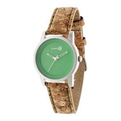 Men's Earth Watches Canopies Quartz Watch Khaki/Tan Leather/Silver