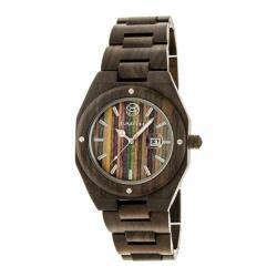 Men's Earth Watches Cypress Quartz Watch Dark Brown Wood/Dark Brown