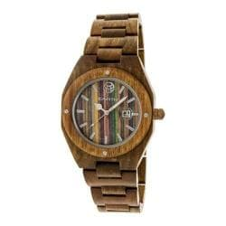 Men's Earth Watches Cypress Quartz Watch Olive Wood/Olive
