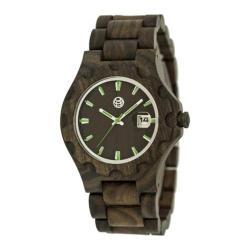 Men's Earth Watches Gila Quartz Watch Dark Brown Wood/Dark Brown
