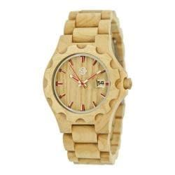 Men's Earth Watches Gila Quartz Watch Khaki/Tan Wood/Khaki/Tan