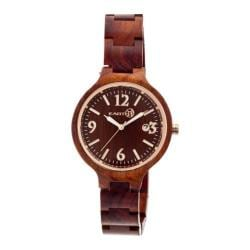 Women's Earth Watches Nodal Ladies Quartz Watch Red Wood/Red