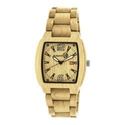 Men's Earth Watches Sagano Quartz Watch Khaki/Tan Wood/Khaki/Tan