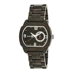 Men's Earth Watches Scaly Quartz Watch Dark Brown Wood/Dark Brown