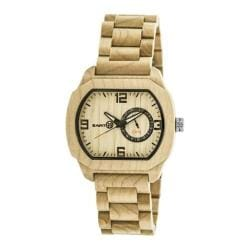 Men's Earth Watches Scaly Quartz Watch Khaki/Tan Wood/Khaki/Tan