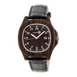 Men's Earth Watches Sherwood Quartz Watch Black Leather/Dark Brown