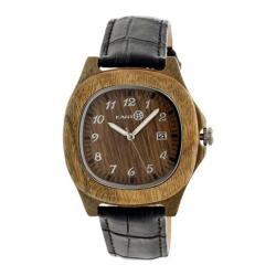 Men's Earth Watches Sherwood Quartz Watch Black Leather/Olive