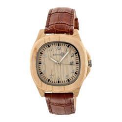 Men's Earth Watches Sherwood Quartz Watch Brown Leather/Khaki/Tan
