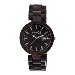 Men's Earth Watches Stomates Quartz Watch Dark Brown Wood/Dark Brown