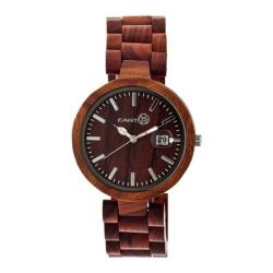 Men's Earth Watches Stomates Quartz Watch Red Wood/Red