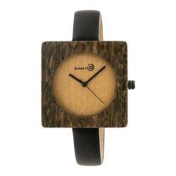 Men's Earth Watches Teton Quartz Watch Black Leather/Olive