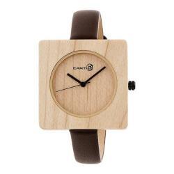 Men's Earth Watches Teton Quartz Watch Dark Brown Leather/Khaki/Tan