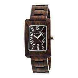 Men's Earth Watches Trunk Quartz Watch Dark Brown Wood/Dark Brown