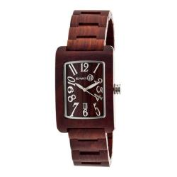 Men's Earth Watches Trunk Quartz Watch Red Wood/Red