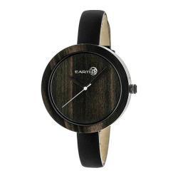 Men's Earth Watches Yosemite Quartz Watch Black Leather/Dark Brown