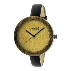 Men's Earth Watches Yosemite Quartz Watch Black Leather/Olive