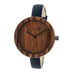 Men's Earth Watches Yosemite Quartz Watch Navy Leather/Red