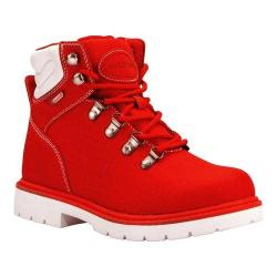Women's Lugz Grotto Ripstop 6in Work Boot Mars Red/White