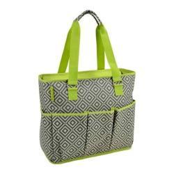 Picnic at Ascot Large Insulated Multi Pocket Travel Bag Granite Grey/Green