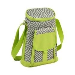 Picnic at Ascot Two Bottle Carrier and Cheese Set Granite Grey/Green