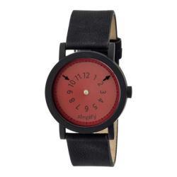Men's Simplify The 2300 Quartz Watch Black Leather/Red